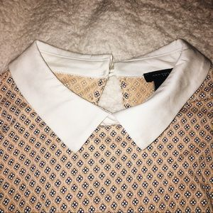 NWOT Ann Taylor Flowered Collared Shirt - S